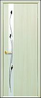 Двери межкомнатные Новый стиль Злата ПГ с зеркалом (дуб жемчужный)