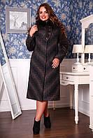 Женское зимнее пальто больших размеров (р. 50-62) арт. 686 Vu+Unito Тон 109