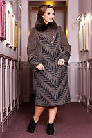 Женское зимнее пальто больших размеров (р. 50-62) арт. 686 Vu+Unito Тон 108