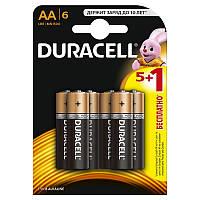 Елемент живлення (батарейка) DURACELL LR6 (AA), 6шт s.07458 (цена за 1 шт)