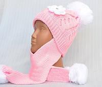 Шапка-ушанка для девочки 3-8 лет
