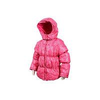Демисезонная куртка для девочки Чехия (розовая) детская удлиненная на синтепоне, утеплена флисом