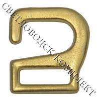 """Крючки «ленивая застежка», р.маленький-13*14 мм,цв. """"золото"""""""