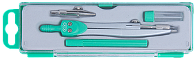 Готовальня BASIS 4 предмета, зеленый, KIDS Line (ZB.5303BS-04)