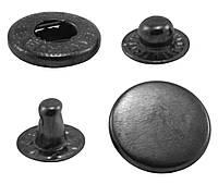 Кнопки металлические №15мм-831, цв. тёмн. никель (1000 шт / уп.)