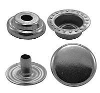 Кнопки металлические №12.5мм-203, цв. никель (1000 шт / уп.)