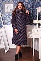 Женское зимнее пальто больших размеров (р. 50-62) арт. 686 Vu+Unito Тон 19