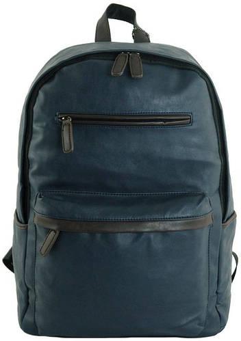 Вместительный рюкзак из искусственной кожи 17 л. Traum 7175-06, синий