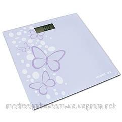 Весы электронные на стеклянной платформе, дизайн - Бабочка, Momert 5848-2