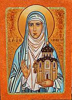 Икона из янтаря Святая Елизавета