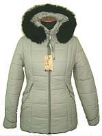 Молодежная женская зимняя куртка с шикарным мехом