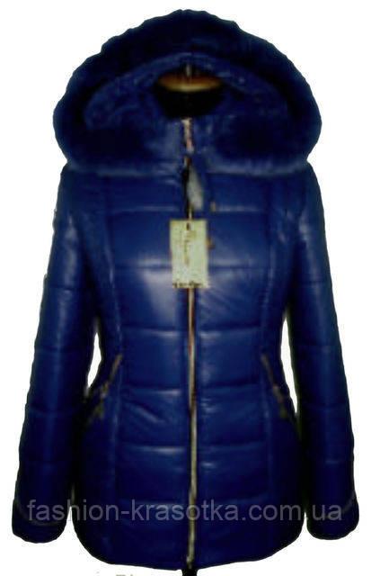 Симпатична жіноча зимова куртка з хутром шикарним