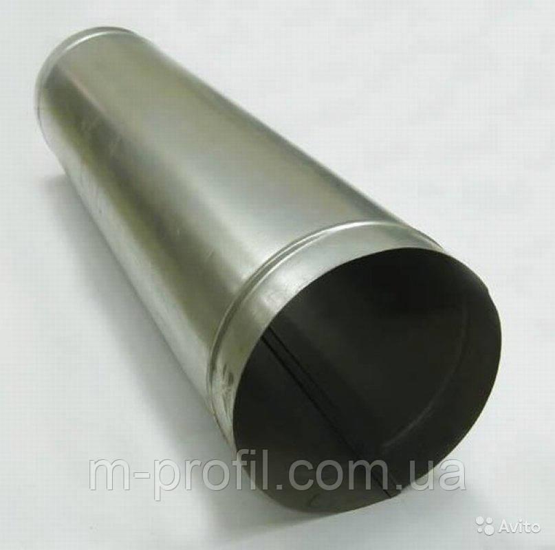 Труба водостічна Ø100*1000мм, цинк 0,35