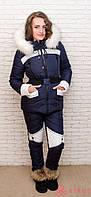 Женский зимний термо костюм Airos, однотонные брюки