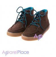 Gymboree Ботинки коричневые на синем шнурке