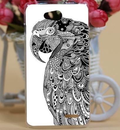 Силиконовый чехол бампер для LG L90 d410 с картинкой Попугай