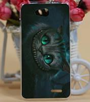 Силиконовый чехол бампер для LG L90 d410 с картинкой Чеширский кот, фото 1
