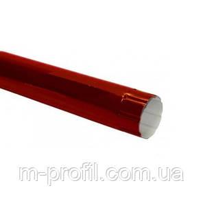 Труба водосточная Ø100*1250мм, RAL 3005 система 110мм, фото 2