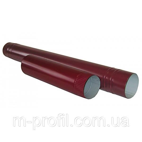 Труба водосточная Ø100*1250мм, RAL 3005 система 110мм