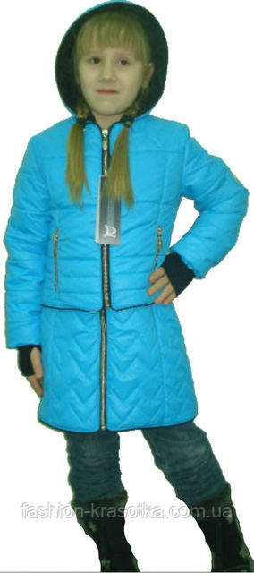Интересная детская демисезонная куртка с сарафаном