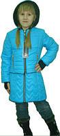 Интересная детская демисезонная куртка с сарафаном, фото 1