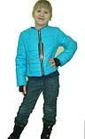 Интересная детская демисезонная куртка с сарафаном, фото 3