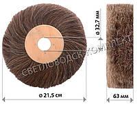"""Щётка """"конский волос"""" для полировки обуви на СОМ (темный волос), узкая, фото 1"""