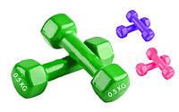 Гантели для фитнеса с виниловым покрытием Радуга (2шт. по 0,5 кг.)
