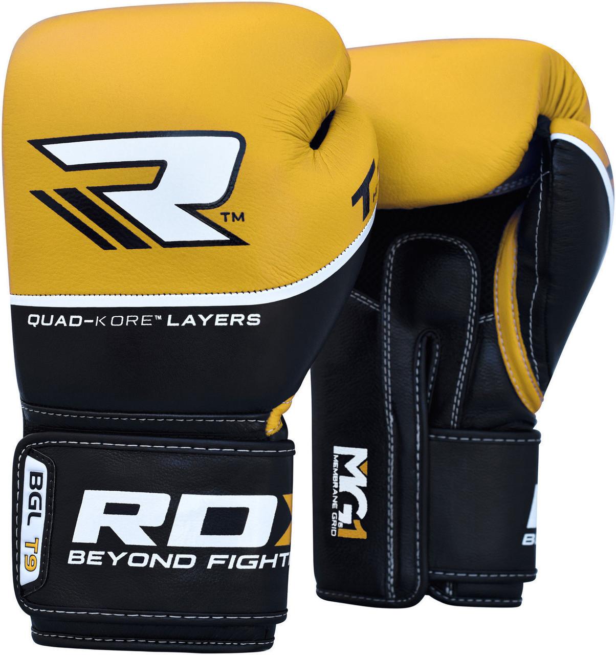 Боксерские перчатки RDX Boxing Glove T9 Yellow 12 oz