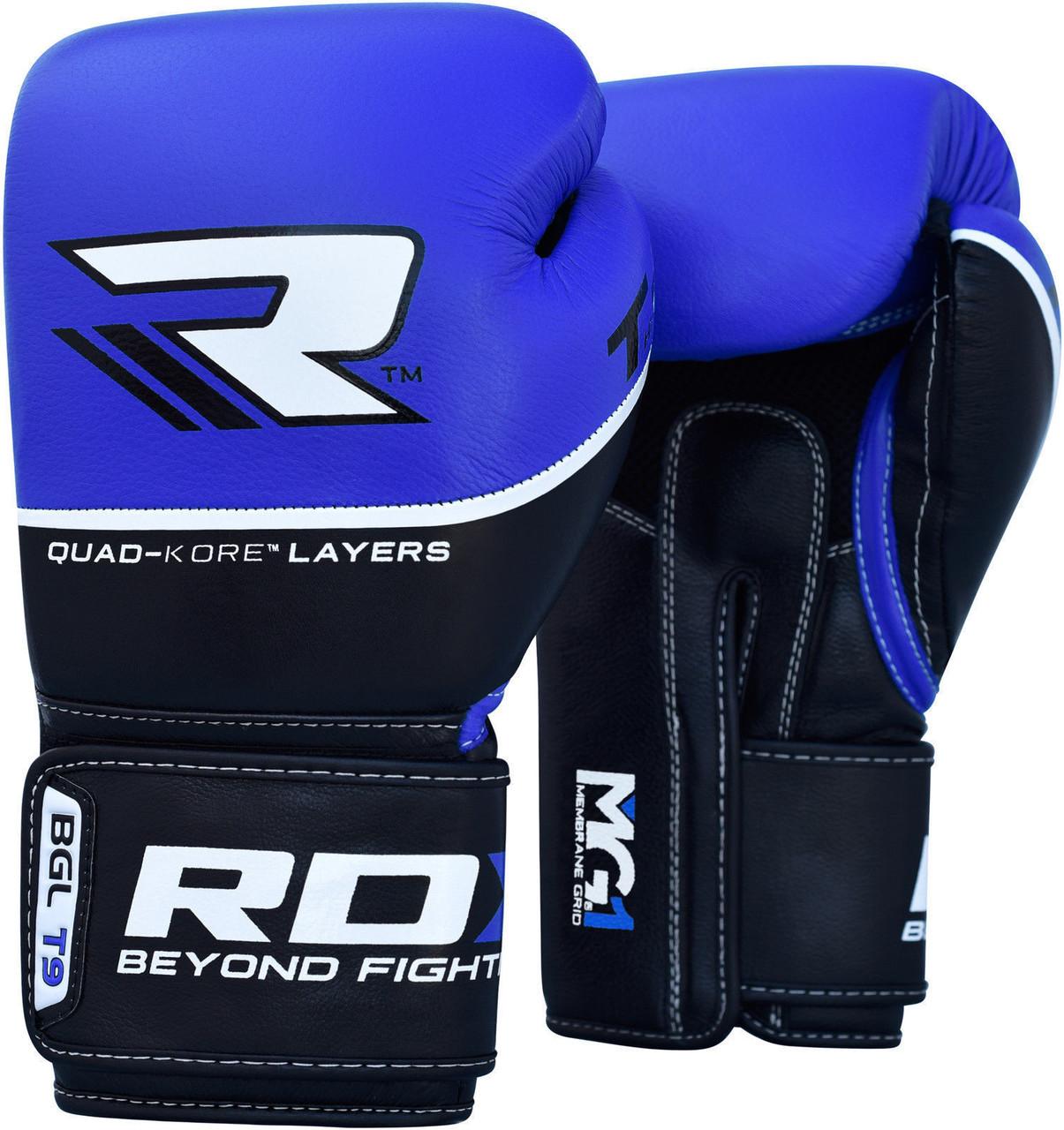 Боксерские перчатки RDX Boxing Glove T9 Blue 10oz