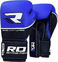 Боксерские перчатки RDX Boxing Glove T9 Blue 10oz, фото 1