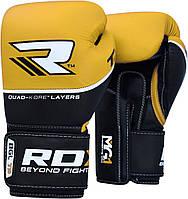 Боксерские перчатки RDX Boxing Glove T9 Yellow 14 oz, фото 1