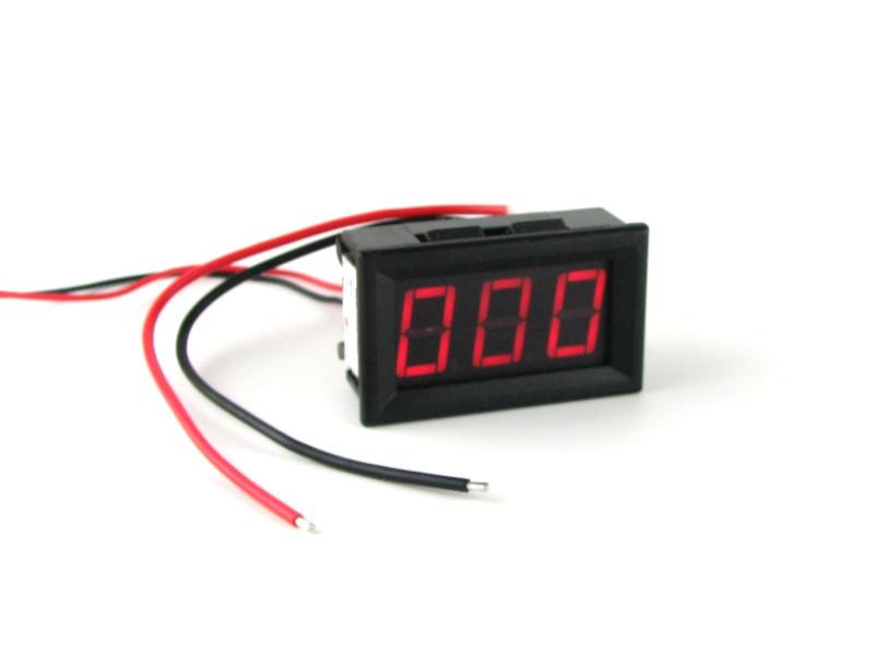 Цифровой амперметр постоянного тока 0~999мА DC встраиваемый Красный