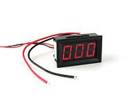 Цифровой амперметр постоянного тока 0~999мА DC встраиваемый Красный, фото 1