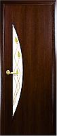 """Двери межкомнатные """"Луна"""" Орех - рисунок Р1 (Новый стиль)"""