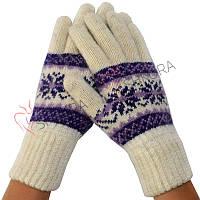 Женские зимние перчатки удлиненные
