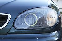 """DAEWOO Lanos - установка биксеноновых линз Morimoto G5 2,5"""" (⌀64мм) H1 и LED-COB """"ангельских глазок"""", фото 1"""