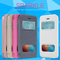 Кожаный чехол Nillkin Sparkle для iPhone 5 / 5S / SE (5 цветов)