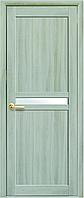 """Двери межкомнатные """"Неона"""" - Ясень патина (стекло сатин)"""