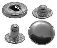 Кнопки металлические №12.5мм-633, цв. никель (1000 шт / уп.)