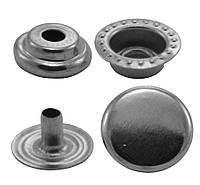 Кнопки металлические №15мм-201, цв. никель (1000 шт / уп.)