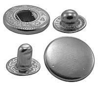 Кнопки металлические №15мм-831, цв. никель (1000 шт / уп.)