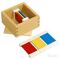 Цветные таблички - ящик №1 , размер пластинок 70*40*2 мм