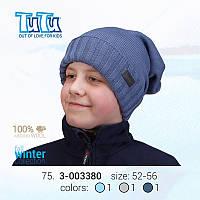 """Шапка для мальчика из новой коллекции """"TuTu"""" арт. 3-003380"""