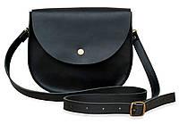 Bag black Saddle, сумка-седло, чёрная