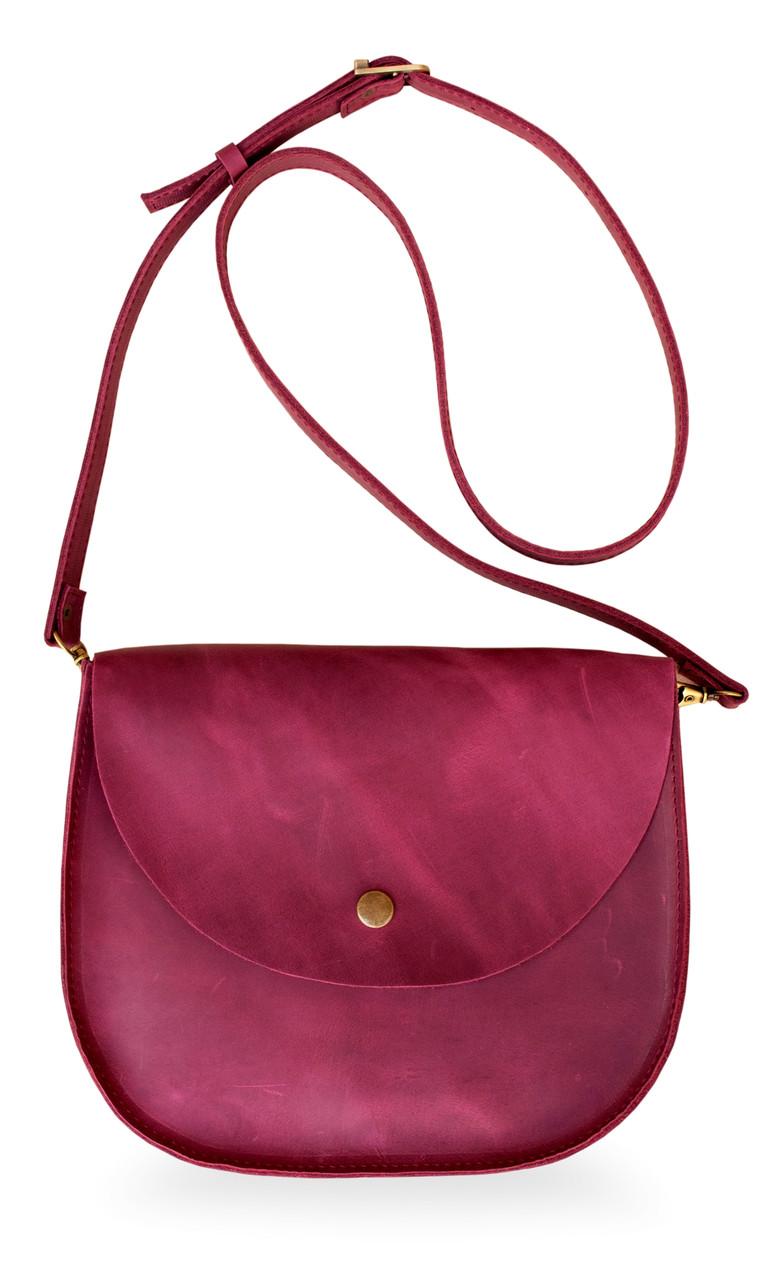Bag vinous Saddle, сумка-седло, бордовая