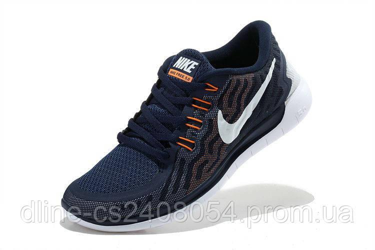 Nike Free Run 5.0 2015 Темно Синие