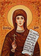 Икона из янтаря Святая Дарья