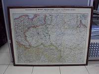 Карта россии 1914 год  размеры 67,5 х 87 см