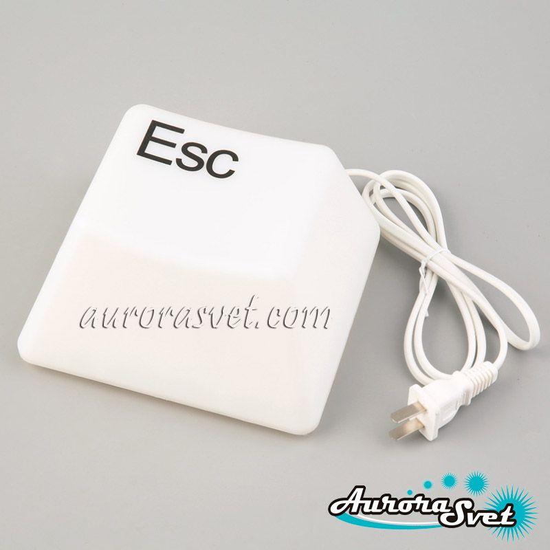 Дизайнерский Ночник клавиша Esc. LED ночник. Светодиодный ночник.